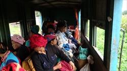 カックーパゴダ カックー遺跡 電車 写真 Kakku Pagoda Railway Train Photo