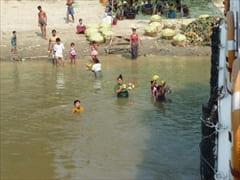 バガン マンダレー フェリー 写真 中の様子 ミャンマー Bagan Mandalay Ferry photo