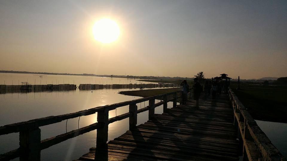 マンダレー ウー・ベイン橋 U Bein Bridge 写真 photo ミャンマー mandalay